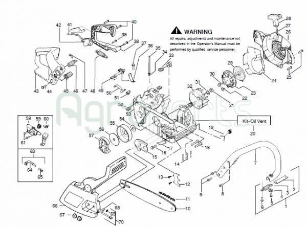 Agroparts Gr Chainsaw Mcculloch Mac Cat 438