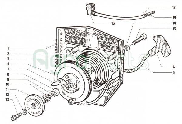 agroparts gr 4 stroke gasoline engine cotiemme cx 75