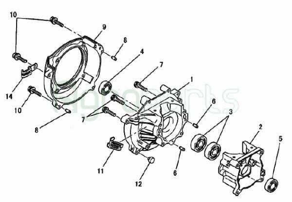 Agroparts Gr 2 Stroke Gasoline Engine Mitsubishi Tl 43