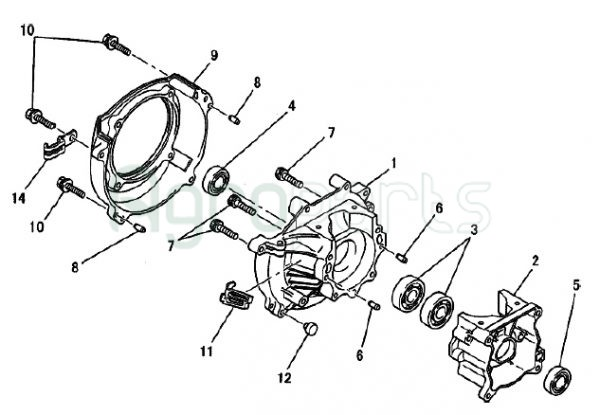 Agroparts Gr 2 Stroke Gasoline Engine Mitsubishi Tl 50