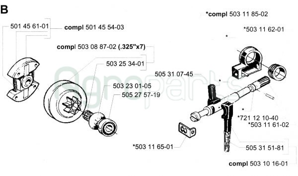 Starter Pulley for TANAKA ECV5501 Chainsaw